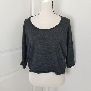 Splendid Crop Sweater Top Dolman Sleeve